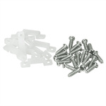 (10 Pack) Strip Light Mounting Clips with Screws Image