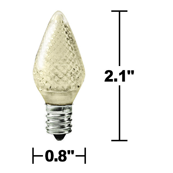 25 Pack - C7 - LED - Warm White - Faceted Finish Image