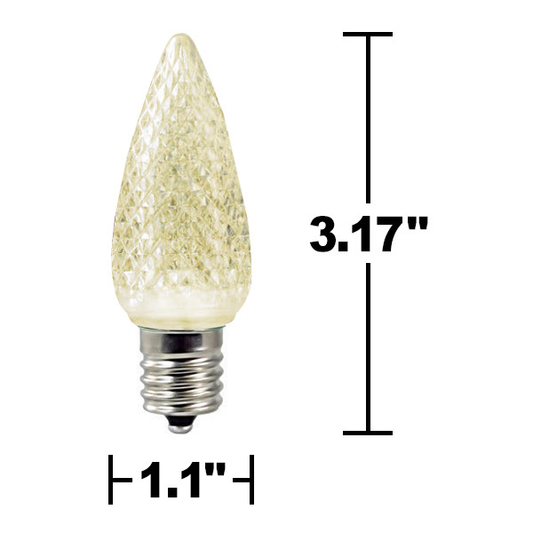 25 Pack - C9 - LED - Warm White - Faceted Finish Image