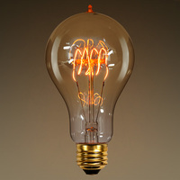 40 Watt - Vintage Light Bulb - A23 - 1900 Victorian Style - 5.25 in. Length - Quad Loop Filament - Tinted
