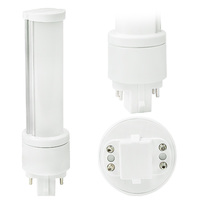LED PL - 4 Pin G24q Base - 6 Watt - 500 Lumens - 2700 Kelvin  Replaces 13-26W CFL - Ballast Bypass - 120-277 Volt - MaxLite 76608