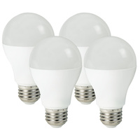 LED - A19 - 6 Watt - 40W Incandescent Equal - 450 Lumens - 2700 Kelvin Warm White - 4 Pack