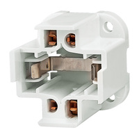 4 Pin G24q-3 and GX24q-3 Base CFL Socket - Horizontal Screw Mounted Mount - Use With 26 Watt Twin Tube Lamps - Rated 75W-600V