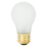 15 Watt - A15 Incandescent Light Bulb - 10 Pack - Frosted - Medium Brass Base - 130 Volt - PLT NORM-10000