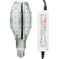 5807 Lumens - 60 Watt - LED Corn Bulb - 250W Metal Halide Equal - 4200 Kelvin - Mogul Base - 120-277V - 5 Year Warranty