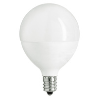 350 Lumens - 5W - 40W Equal - LED G16.5 Globe - 1.9 in. Diameter - 2700 Kelvin - Frosted - Candelabra Base - Dimmable - 120V