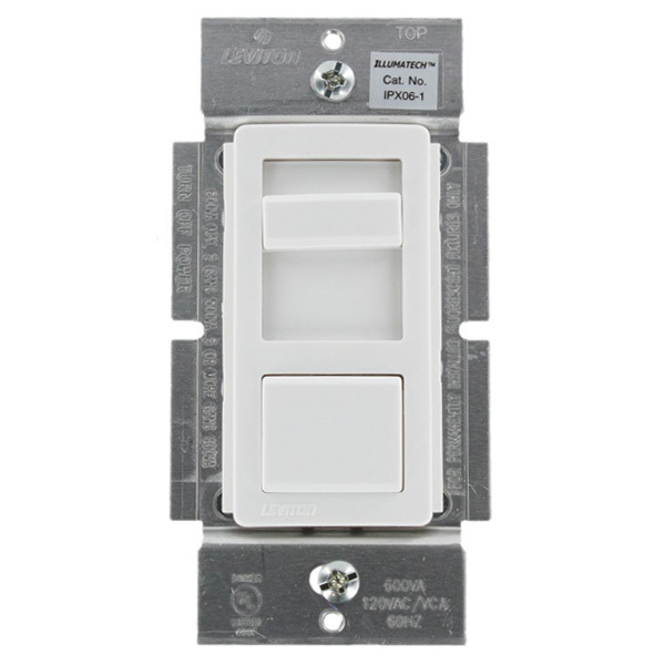 Leviton IllumaTech IPX06-10Z - 600VA Max. - Fluorescent Dimmer for Mark 10 Powerline Ballasts Image