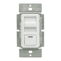 White/Ivory/Light Almond - 750W Max. - Magnetic Low Voltage Dimmer - Single Pole/3-Way - Features LED Locator and Color Change Kit - Slide / Push Button Switch - 120 Volt - Leviton IllumaTech IPM10-1LZ