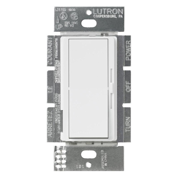 Lutron Diva DVSTV-WH - 0-10 VDC - Dimmer - White | 1000Bulbs.com on reverse phase dimmer circuit, dmx circuit, digital dimmer circuit, fluorescent dimmer circuit, led dimmer circuit,