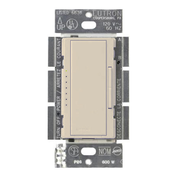 Lutron Maestro MRF2-6ND-120-LA - 600 Watt Max. -  Spec-Grade Wireless Incandescent/MLV Dimmer Image