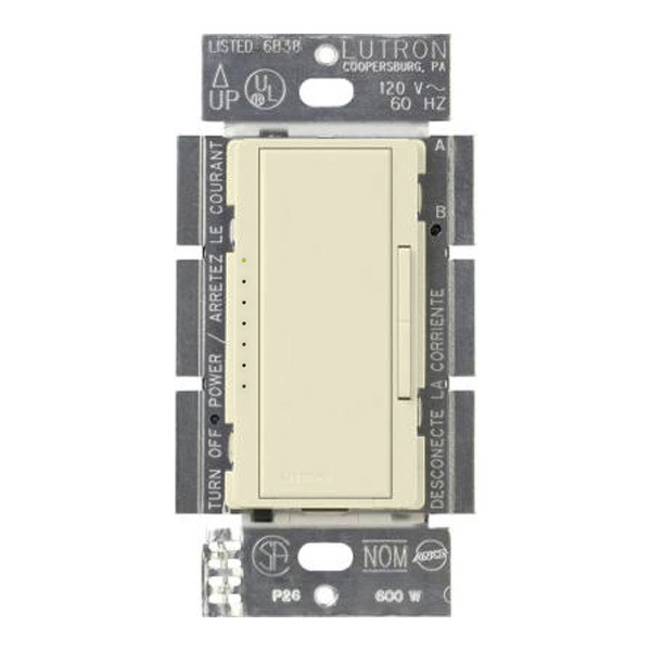 Lutron Maestro MRF2-600M-AL - 600 Watt Max. - Wireless Incandescent Dimmer Image