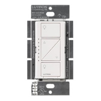White - Caseta Wireless In-Wall Dimmer - Single Pole/Multi-Location - Tap Switch - 600 Watt Max. - 120 Volt