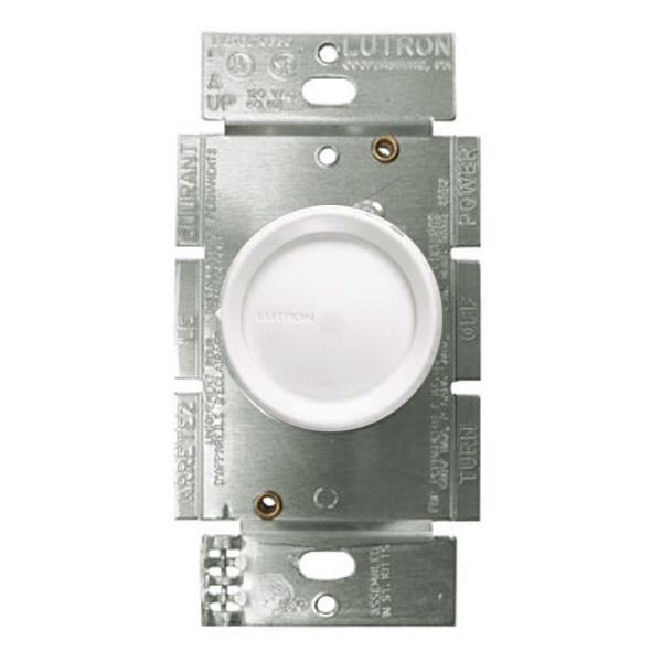 Lutron D-600R-WH - 600 Watt Max. - Incandescent Dimmer Image