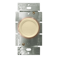Ivory - 600 Watt Max. - Incandescent Dimmer - Single Pole - Rotary Switch with Locator Light - 120 Volt - Lutron DNG-600P-IV