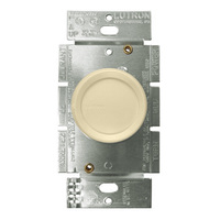 Ivory - 1.5 Amp Max. - Quiet 3-Speed Fan Control - Single Pole - Rotary Switch - 120 Volt - Lutron FSQ-2F-IV