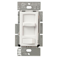 White - 600 Watt Max. - Incandescent Dimmer - Single Pole - Rocker and Slide Switch - 120 Volt - Lutron Skylark Contour CT-600P-WH