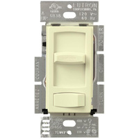 Almond - 600 Watt Max. - Incandescent Dimmer - 3-Way - Rocker and Slide Switch - 120 Volt - Lutron Skylark Contour CT-603P-AL