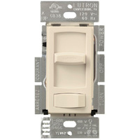 Light Almond - 600 Watt Max. - Incandescent Dimmer - 3-Way - Rocker and Slide Switch - 120 Volt - Lutron Skylark Contour CT-603P-LA