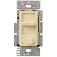 Ivory - 600 Watt Max. - Incandescent Dimmer - 3-Way - Rocker and Slide Switch - 120 Volt - Lutron Skylark Contour CT-603P-IV