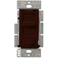 Brown - 150W or 600W Max. - CFL/LED or Incandescent/Halogen Dimmer - Single Pole/3-Way - Rocker and Slide Switch - 120 Volt - Lutron Skylark Contour CTCL-153P-BR