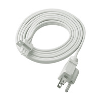 6 ft. Power Cord with Molded Plug - For WAC Lighting LED Light Bars - White - WAC Lighting BA-PC6-WT
