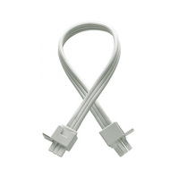 24 in. - 2-Plug Joiner Lead  - For WAC Lighting LED Light Bars - White - WAC Lighting BA-IC24-WT