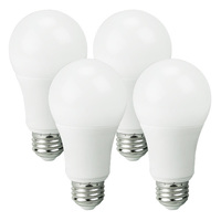 LED - A19 - 9 Watt - 60W Incandescent Equal - 800 Lumens - 2700 Kelvin Warm White - Omni-Directional - 4 Pack