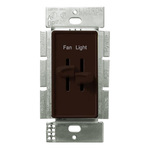 Lutron Skylark S2-LFSQ-BR - 3 Speed Quiet Fan Control and Incandescent Dimmer Image