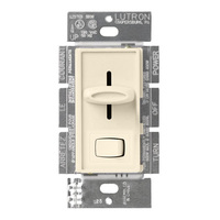 1000 Watt Max. - Incandescent Dimmer - Single Pole - Rocker and Slide Switch - Light Almond - 120 Volt - Lutron Skylark S-10P-LA