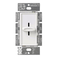 White - 600 Watt Max. - Incandescent Dimmer - Single Pole - Slide Switch - 120 Volt - Lutron Skylark S-600-WH