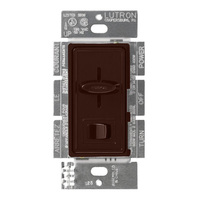 Brown - 600 Watt Max. - Incandescent Dimmer - 3-Way - On/Off Rocker Switch and Slider - 120 Volt - Lutron Skylark S-603P-BR