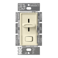 Ivory - 600 Watt Max. - Incandescent Eco-Dimmer - Single Pole/3-Way - Rocker and Slide Switch - 120 Volt - Lutron Skylark S-603PG-IV
