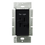 Lutron Skylark S2-LFSQ-BL - 3 Speed Quiet Fan Control and Incandescent Dimmer Image
