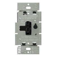 Black - 1000 Watt Max. - Incandescent Dimmer - Single Pole - Toggle and Slide Switch - 120 Volt - Lutron Ariadni AY-10P-BL