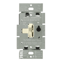 Almond - 600 Watt Max. - Incandescent Dimmer - Single Pole - Toggle and Slide Switch - 120 Volt - Lutron Ariadni AY-600P-AL