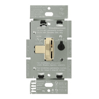 Ivory - 600 Watt Max. - Incandescent Dimmer - 3-Way - Toggle and Slide Switch - 120 Volt - Lutron Ariadni AY-603P-IV