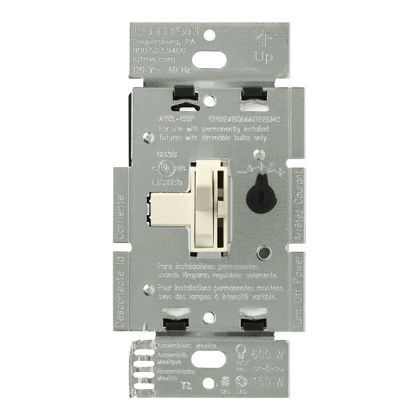 Lutron Ariadni AYCL-153P-LA - 150W or 600W Max. - CFL/LED or Incandescent/Halogen Dimmer Image