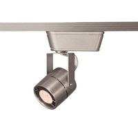 Brushed Nickel - Cylinder Low Voltage Track Fixture - Includes 8 Watt LED MR16 - Compatible with Halo Track - Integral 12V Electronic Transformer