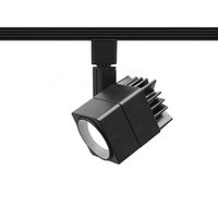Black - Cube Track Fixture - Black Baffle - Includes 15 Watt LED MR16 - Halo Track Compatible - 120 Volt - WAC Lighting H-LED207-30-BK