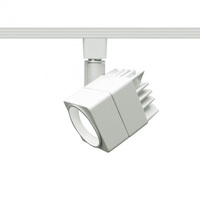 White - Cube Track Fixture - White Baffle - Includes 15 Watt LED MR16 - Halo Track Compatible - 120 Volt - WAC Lighting H-LED207-30-WT