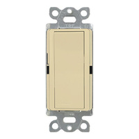 Ivory - 15 Amp Max - Decorator Switch - Single Pole - Paddle - 120/277 Volt