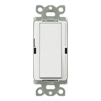 White - 15 Amp Max. - General Purpose Switch - Single Pole - Paddle Switch - 120/277 Volt - Lutron Claro CA-1PSH-WH