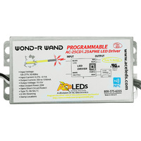 8-25W - Programmable LED Driver - Output 15-55V - Input 120-277VAC - Length 5.23 in. - For Constant Current Products Only