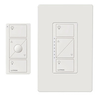 White - In-Wall Dimmer and Pico Remote - 30 ft. Range - Starter Kit for use with Caseta Wireless Devices - Lutron Caseta P-PKG1W-WH