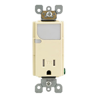 Receptacle with LED Guide Light - Tamper Resistant - Ivory - 125 Volt