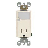 Receptacle with LED Guide Light - Tamper Resistant - Light Almond - 125 Volt