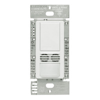 White - Passive Infrared (PIR) With Ultrasonic Technology - Occupancy and Vacancy Sensor - 6 Amp Max. - 120-277 Volt - Neutral Required
