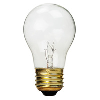 15 Watt - A15 Incandescent Light Bulb - Clear - Medium Brass Base - 130 Volt - PLT NORM-10003