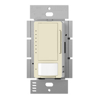 Almond - Passive Infrared (PIR) Occupancy Sensor with Dimmer - 600W Max. - 120 Volt