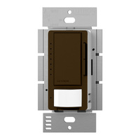 Brown - Passive Infrared (PIR) Vacancy Sensor with Dimmer - 600W Max. - 120 Volt